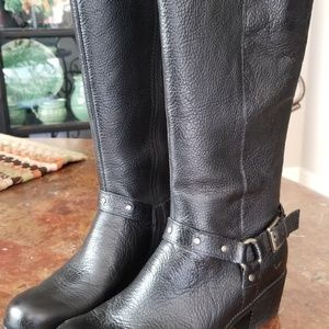 """ Born "" Black leather Boots"